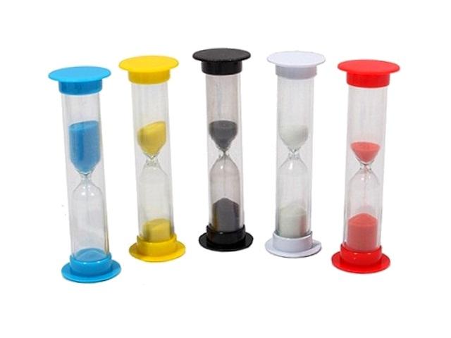 Часы песочные 1мин цветные ПЧ-6070