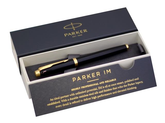 Ручка Parker роллер IM Core черная 0.5мм черный корпус 1931659