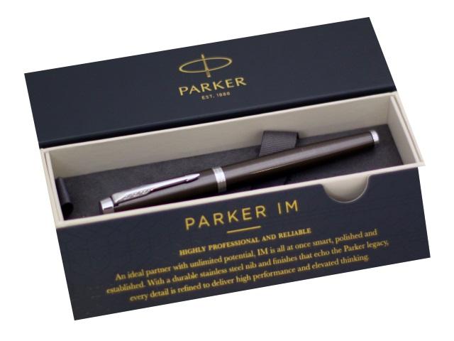 Ручка Parker роллер IM Core черная 0.5мм серебристый корпус 1931664