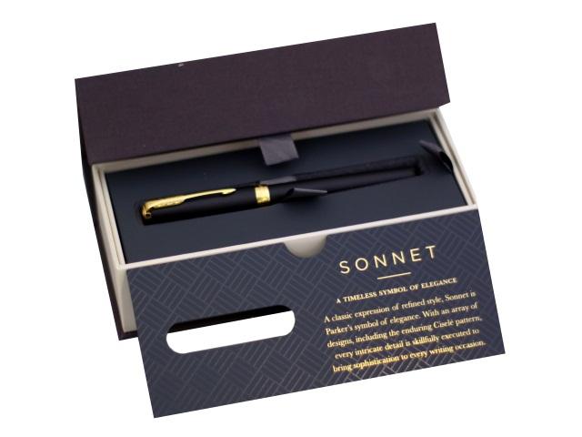 Ручка Parker роллер Sonnet Core черная 0.5мм черный корпус 1931518
