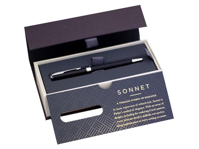 Ручка Parker шариковая поворотная Sonnet Core черная 1мм черный корпус 1931525