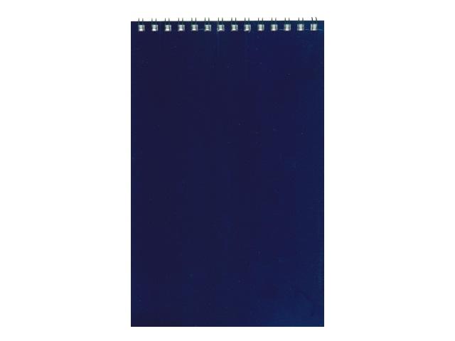 Блокнот А5 спираль сверху м/обложка  40л Темно-синий Profit Б40-4312
