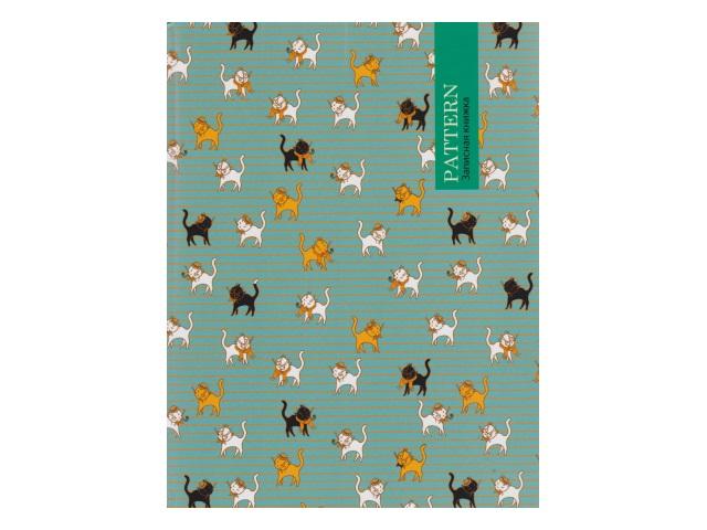 Записная книжка А5 тв/переплёт  80л Кошачий орнамент-2 Prof Press 80-5209