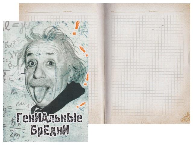 Записная книжка А5 тв/переплёт 128л Гениальные бредни Collezione 128-0553