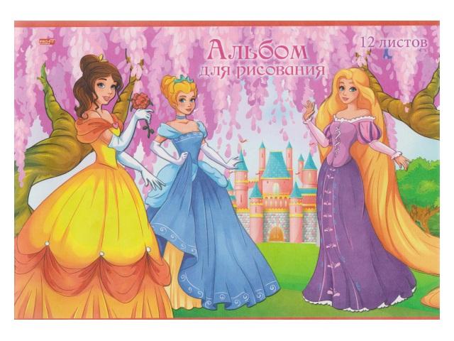 Альбом 12л А4 на скобах Три принцессы 100 г/м2 Profit 12-1207
