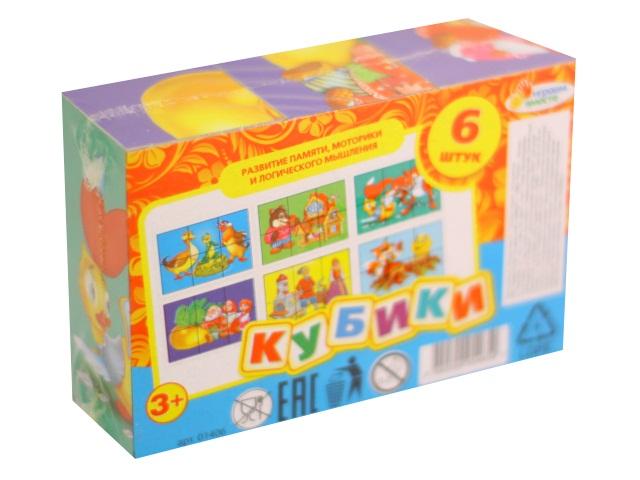 Кубики  6 шт. Русские сказки Играем вместе 01406
