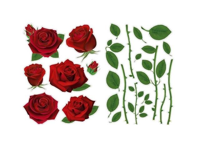 Наклейки для декора 47*33см многоразовые Цветы Miland 9-56-0006