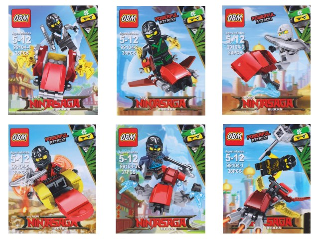 Конструктор  34-38 деталей NinjaSaga 99104