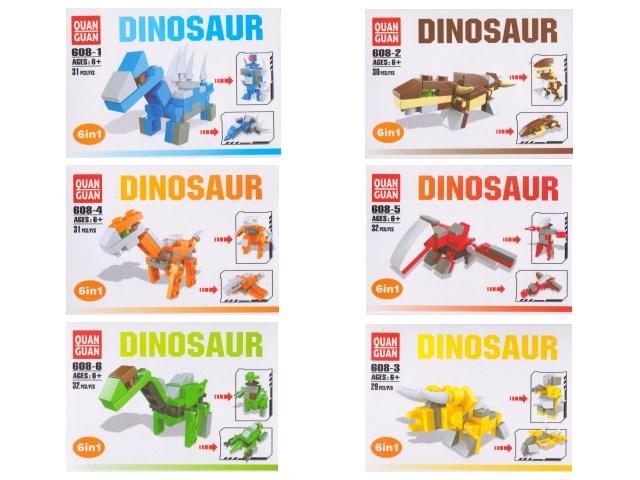 Конструктор  29-32 деталей Динозавр 608