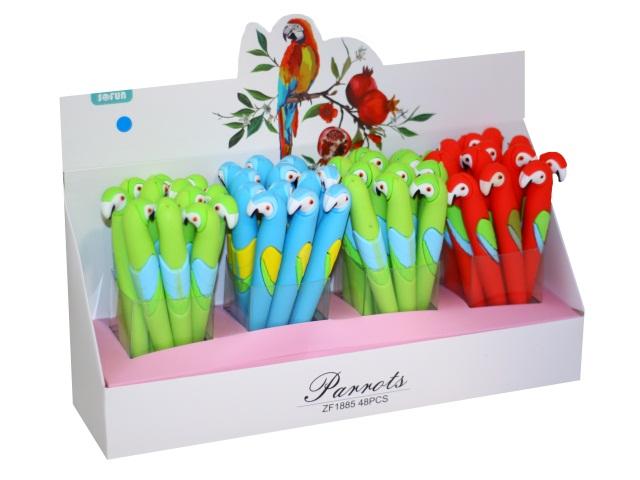 Ручка шариковая Mazari Parrot синяя 0.7мм M-7446-70