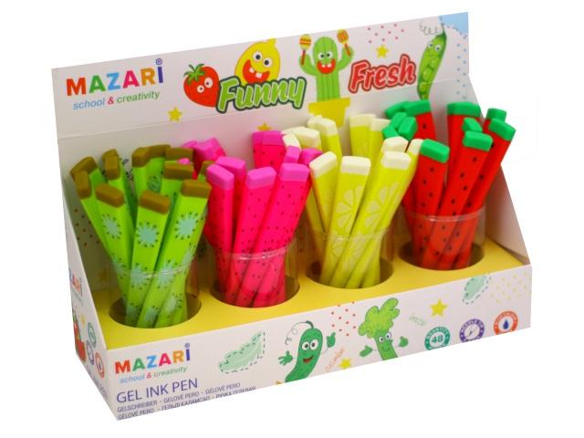 Ручка гелевая Mazari Funny Fresh синяя 0.5мм M-5307D-70