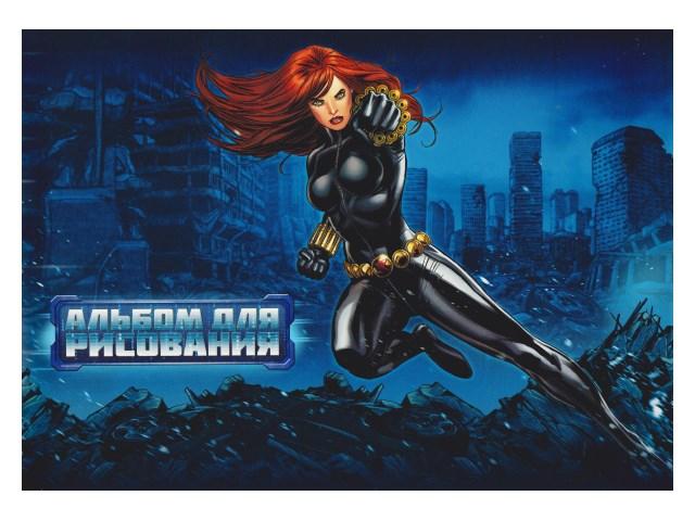 Альбом 20л А4 на скобах Мстители Marvel 100 г/м2 Hatber 20А4В