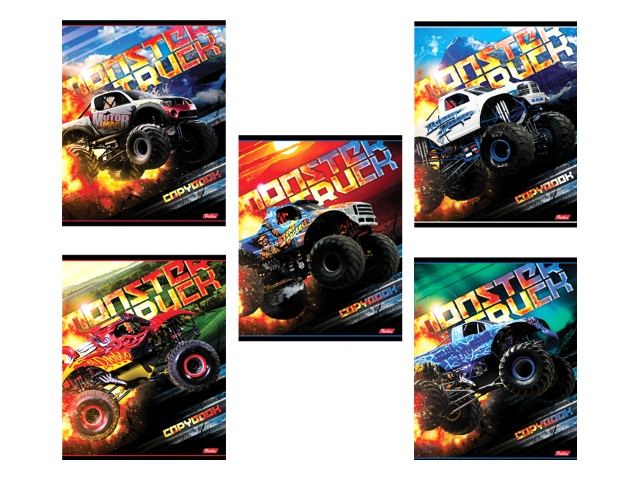 Тетрадь 24л клетка MonsterTruck Hatber 24Т5В1