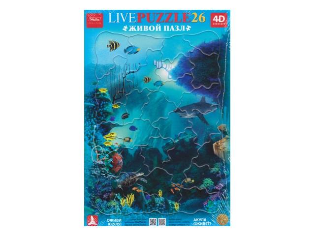 Пазлы в рамке 26 деталей Акула 4D Hatber 26ПЗ4_13176