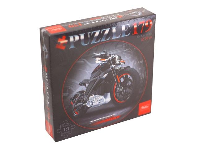 Пазлы  179 деталей Hatber Black motorbike круглые d=30см 179ПЗк4_13407