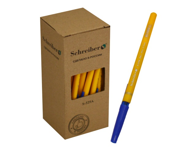Ручка шариковая Schreiber синяя 0.7мм S-325A