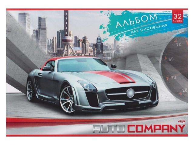 Альбом 32л А4 на скобах Серо-красный автомобиль 100 г/м2 Profit 32-6088