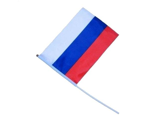 Флаг России 14*21см с флагштоком Miland ФГ-2013