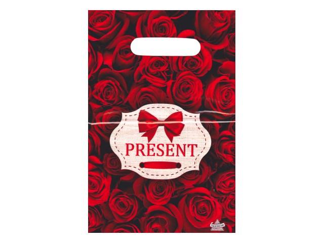 Пакет подарочный прорезные ручки 30*20см Презент бордо Miland н00157458