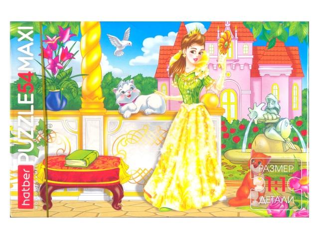 Пазлы Maxi 54 детали Принцесса Hatber 54П33_09178