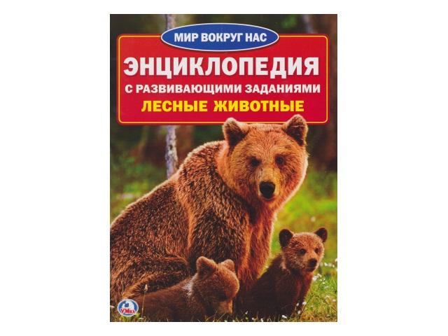 Энциклопедия А4 с заданиями Лесные животные Мир вокруг нас Умка 01634