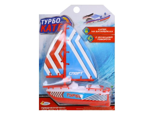Катер на батарейках Турбо 17см Играем вместе B1304403-R