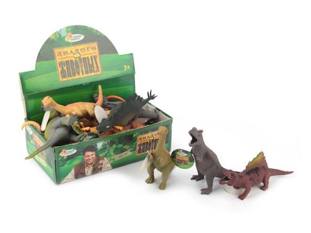 Тянучка Динозавр 13см Играем вместе W6328
