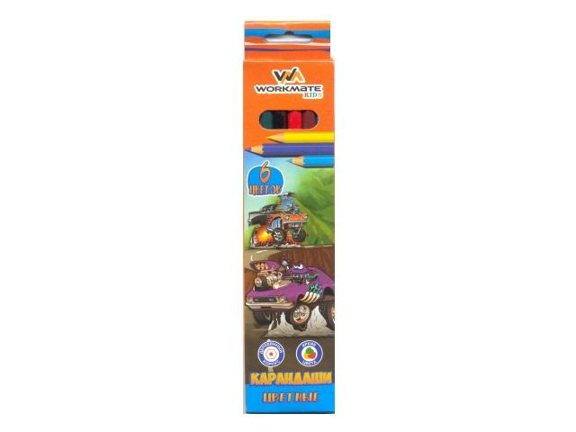 Карандаши цветные  6цв WM Kids шестигранные 171600200