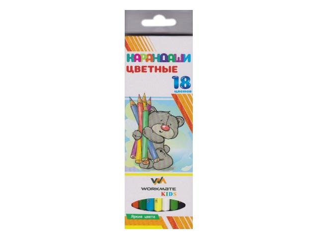 Карандаши цветные 18цв WM Kids шестигранные 171180200
