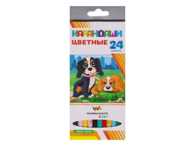 Карандаши цветные 24цв WM Kids шестигранные 171240200