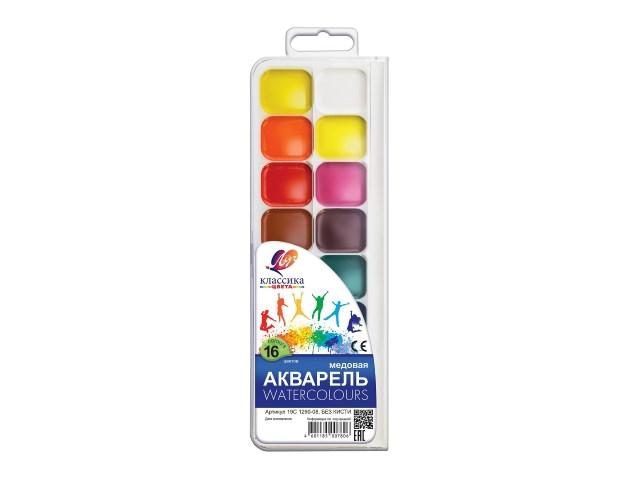 Краски 16 цветов акварель медовая Классика Луч 19С 1290-08