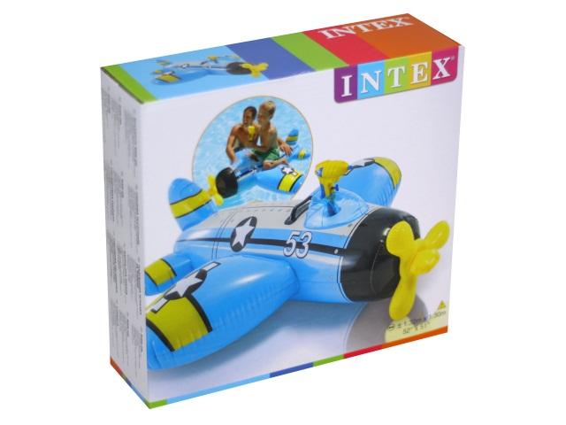 Игрушка надувная 132*130см с держателями Самолет с водным пистолетом Intex 57537