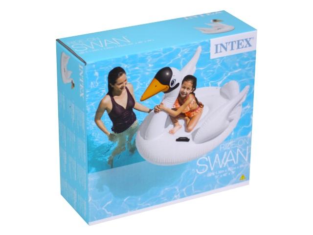 Матрац-плот 130*102см с держателями Лебедь Intex 57557