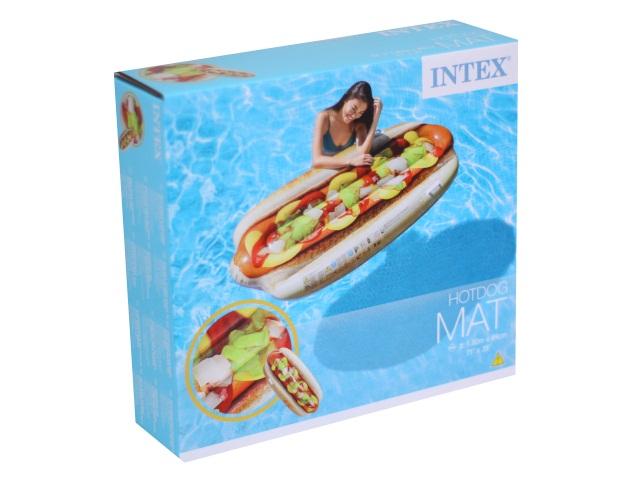 Матрац-плот 180* 89см Хот-дог Intex 58771
