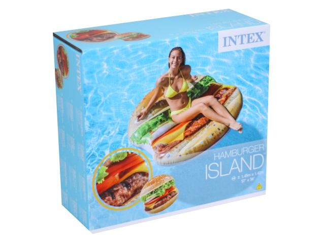 Матрац-плот 145*142см Гамбургер Intex 58780