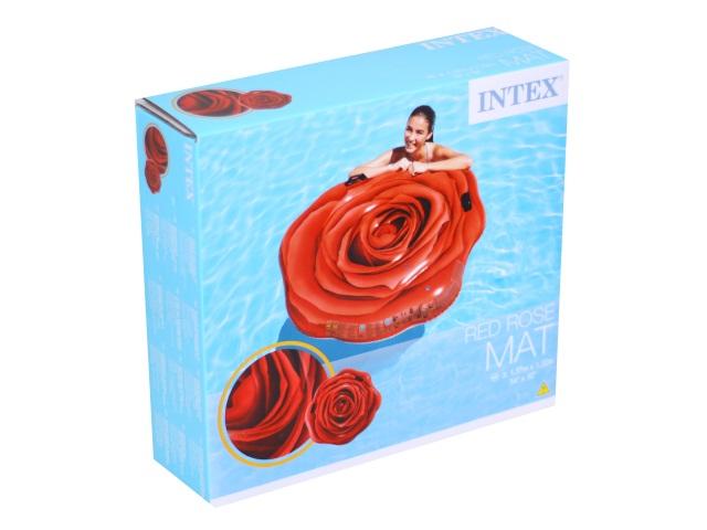 Матрац-плот 137*132см с держателями Роза Intex 58783
