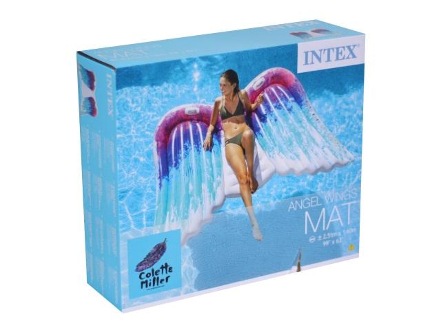 Матрац-плот 251*160см с держателями Крылья ангела Intex 58786