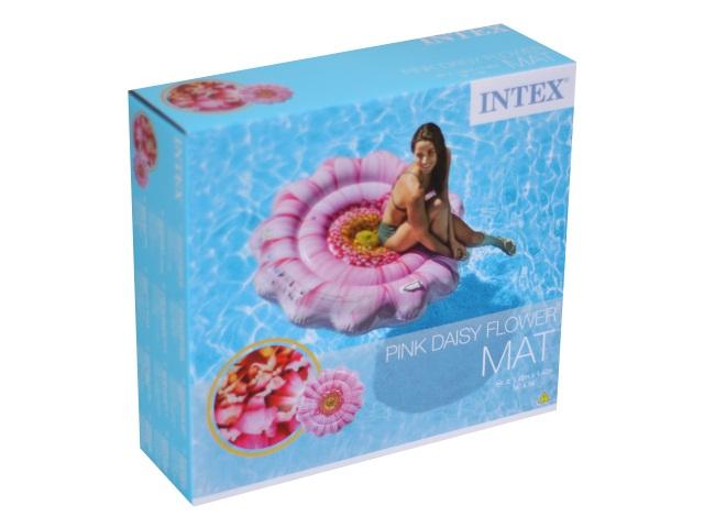 Матрац-плот 142*142см с держателями Розовый цветок Intex 58787