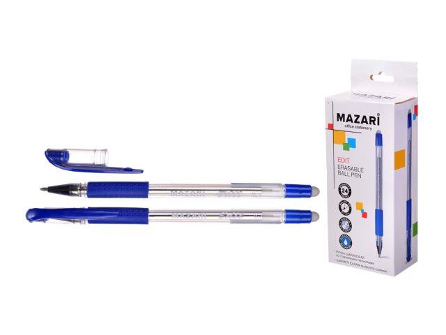 Ручка пиши-стирай Mazari Edit гелевая синяя 0.7мм M-7309-70