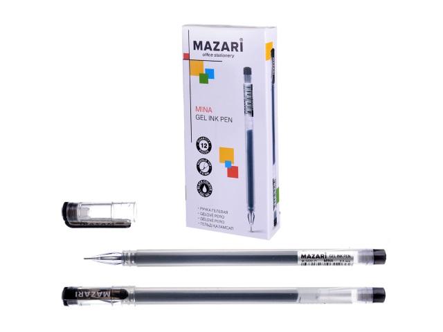 Ручка гелевая Mazari Mina черная 0.5мм M-5322-71