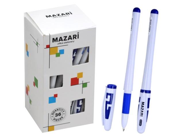 Ручка гелевая Mazari Samy синяя 0.5мм М-5505С-70