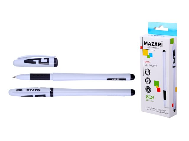 Ручка гелевая Mazari Samy черная 0.5мм М-5505С-71
