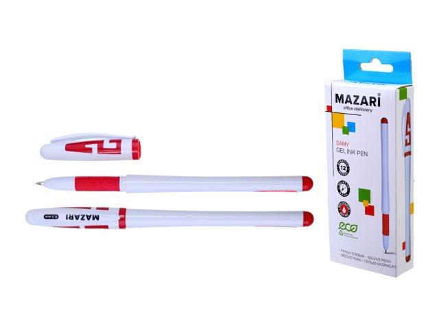 Ручка гелевая Mazari Samy красная 0.5мм М-5505С-72