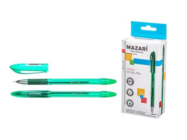 Ручка масляная Mazari Torino зеленая 0.7мм M-5701-73