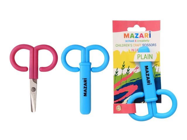 Ножницы детские  9 см пластиковые ручки Mazari M-5618