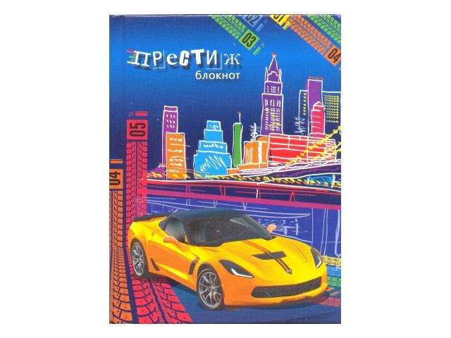 Записная книжка А6 тв/переплёт  80л Желтый спорткар Plano С0094-313