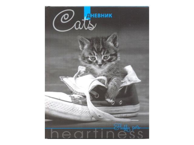 Дневник 1-11кл тв/переплёт Серый котенок Апплика С4072-08