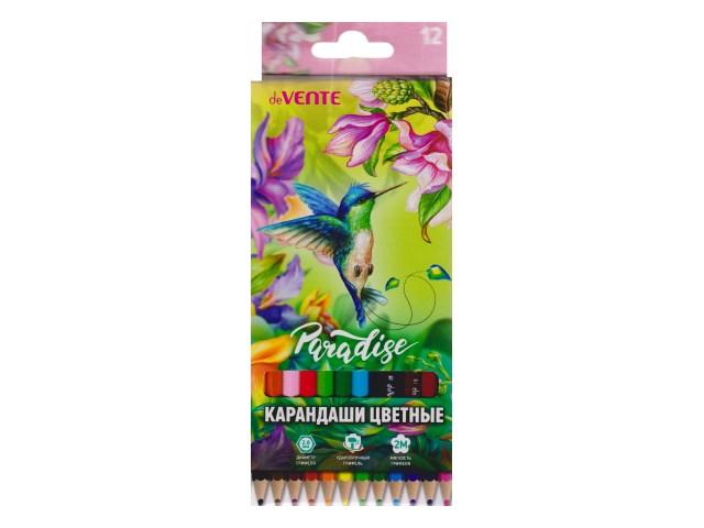 Карандаши цветные 12цв DeVente Paradise шестигранные 5022902