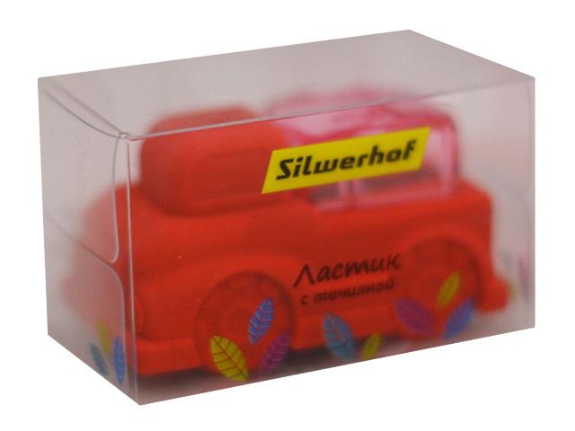 Ластик Silwerhof Машинка с точилкой фигурный 5см 181125\24\144 в кор