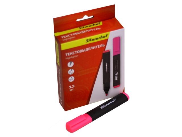 Маркер текстовый Silwerhof Prime розовый скошенный 1-4мм 108031-08